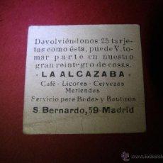 Documentos antiguos: ANTIGUA ACCIÓN DE MARKETING EN MADRID - LA ALCAZABA - SAN BERNARDO 59 - VERSIÓN A. Lote 40547844