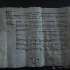 Documentos antiguos: ZARAGOZA. PERGAMINO 23X30CM. TITULO ACADEMICO 1783 IMPRESO Y MANUSCRITO EN LATIN.. Lote 40643604