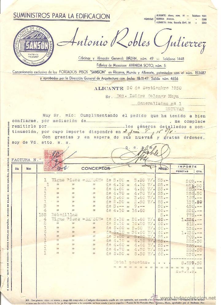 Documentos antiguos: ALICANTE - LOTE DE 9 DOCUMENTOS ANTIGUOS MUY VARIADOS DE ALICANTE - VER DESCRIPCIONES Y FOTOS - Foto 2 - 40717493
