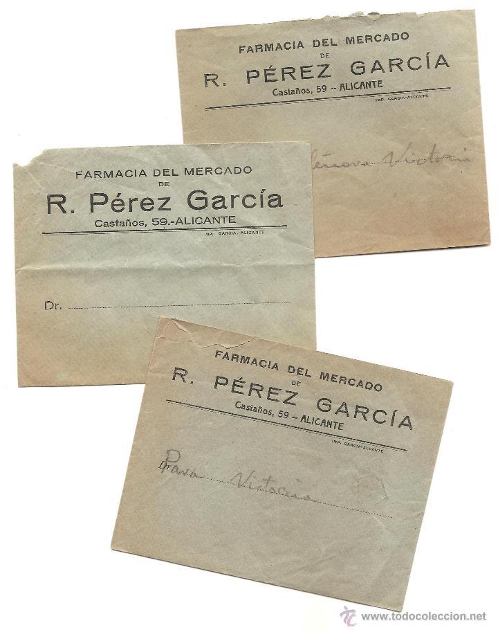 Documentos antiguos: ALICANTE - LOTE DE 9 DOCUMENTOS ANTIGUOS MUY VARIADOS DE ALICANTE - VER DESCRIPCIONES Y FOTOS - Foto 3 - 40717493