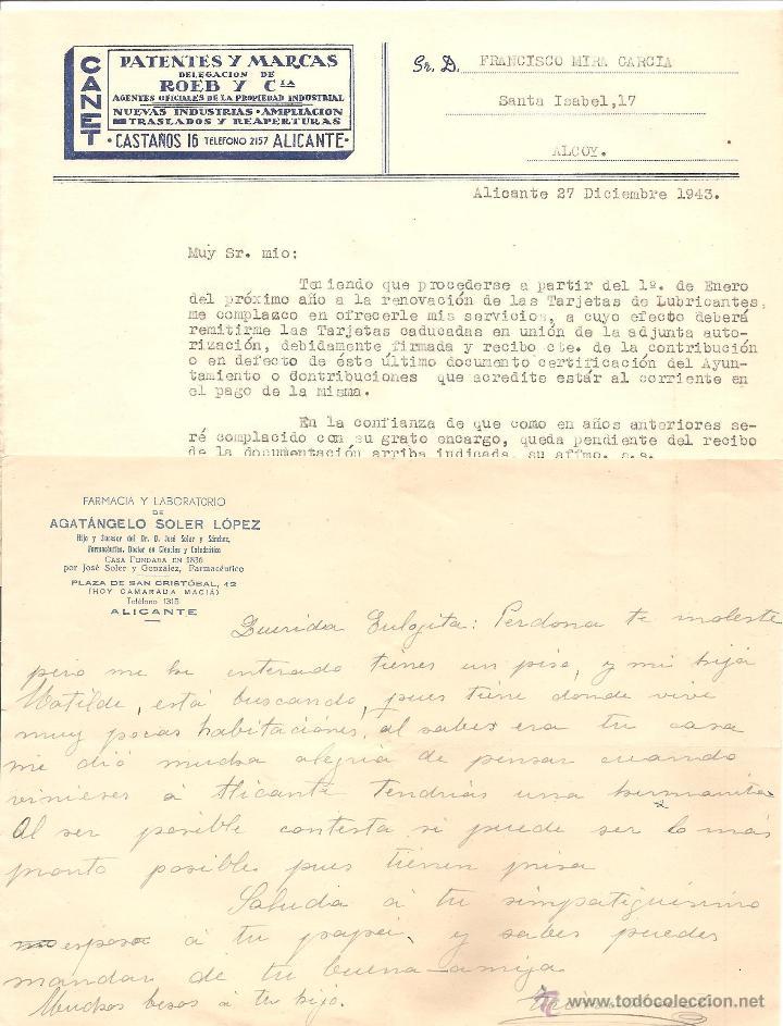 Documentos antiguos: ALICANTE - LOTE DE 9 DOCUMENTOS ANTIGUOS MUY VARIADOS DE ALICANTE - VER DESCRIPCIONES Y FOTOS - Foto 5 - 40717493