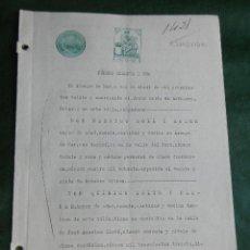 Documentos antigos: DOCUMENTO NOTARIAL PODER NOTARIA JESUS SOLIS DE ECENARRO - ARENYS DE MAR 1929 . Lote 40749658