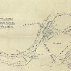 Documentos antiguos: PLANO DE LOS ENLACES DE VÍAS DE LOS FERROCARRILES DE BILBAO (1933) / COLECCIÓN. Lote 40760185