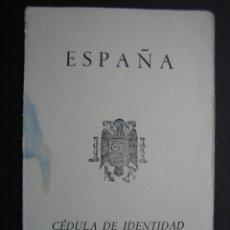 Documentos antiguos: CÉDULA DE IDENTIDAD PARA SACERDOTES Y RELIGIOSOS RESIDENTES E ESPAÑA 1964. Lote 40972521