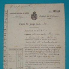 Documentos antiguos: CARTA DE PAGO A HACIENDA NUMERO 72 MONCADA 11 DE JUNIO DE 1889, DOCUMENTOS LOCALES. Lote 41015897