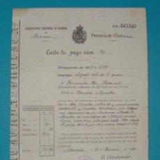 Documentos antiguos: CARTA DE PAGO NUMERO 74 MONCADA 11 DE JUNIO DE 1889 SELLO DE LA ADMINISTRACION DE MONCADA. Lote 41015925