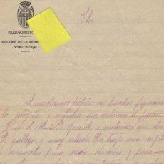 Documentos antiguos: CARTA RELIGIOSAS MERCEDARIAS COLEGIO VERA CRUZ BERRIZ VIZCAYA CONVENTO MONJAS HERMANAS. Lote 41121412