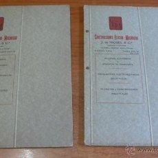 Documentos antiguos: LOTE 2 PROYECTOS FERROVIARIOS. ESTACION PORT-BOU, LÍNEA MADRID A ZARAGOZA Y ALICANTE. 1928.. Lote 41161957
