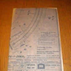 Documentos antiguos: PLANO ENSIDESA EMPRESA NACIONAL SIDERURGICA / DIDIER-WERKE / TUBERIA DISTRIBUCION DE AIRE. Lote 41244255