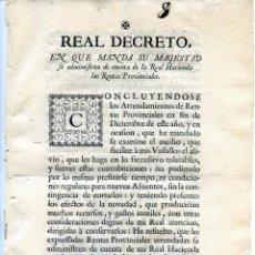 Documentos antiguos: REALES DECRETOS DE 1-07-1749 Y DE 10-01-1752 ANULANDO JUROS, INTERÉS, USURA, RENTAS REALES FELIPE V. Lote 41248931