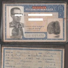 Documentos antiguos: DNI 20.669.680 - C10-2 - CARNET DE IDENTIDAD EXPEDIDO EN ALCIRA EL 18-11-1964- PERTENECIENTE A UN. Lote 41254622
