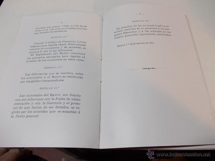 Documentos antiguos: Estatutos y Reglamentos del Banco Popular de Leon XIII 1-12-1904 - Foto 4 - 41289959