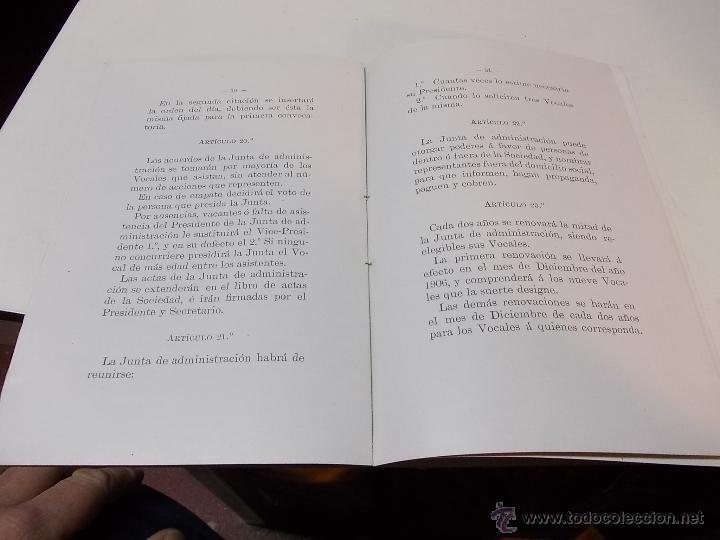 Documentos antiguos: Estatutos y Reglamentos del Banco Popular de Leon XIII 1-12-1904 - Foto 6 - 41289959