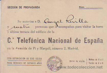 Autorización De La Compañia Telefonica Para Acceder A La Torre Y Terraza