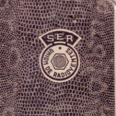 Documentos antiguos: CARNET DE IDENTIDAD DE LA UNION DE RADIOYENTES - CADENA SER - RADIO SEVILLA - MARZO 1952. Lote 41378555