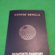 Documentos antiguos: PASAPORTE EXPO 92 SEVILLA. Lote 41405248