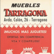 Documentos antiguos: MUEBLES TARRAGONA - FOLLETO INFORMATIVO - PUBLICIDAD ANY 1969 - NADALA. Lote 41463491