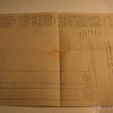 Documentos antiguos: LA UNIÓN Y EL FENIX ESPAÑOL - PROPOSICIÓN DE SEGURO DE INCENDIOS 1940 - SIN USAR. Lote 41511388
