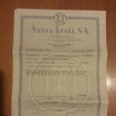 Documentos antigos: POLIZA DE SEGUROS SANTA LUCIA MADRID SUCURSAL SEVILLA 1968. Lote 41611150