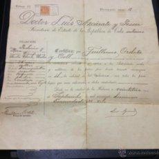Documentos antiguos: PASAPORTE CUBANO 1919. SELLO EN SECO. VER FOTOS.. Lote 41632214