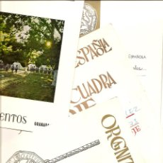 Documentos antiguos: GRANADA OJE - LOTE 4 DOCUMENTOS CAMPAMENTOS OJE AÑOS 1973 A 75 - NOMBRAMIENTOS Y FOLLETO CAMPAMENTOS. Lote 42144008