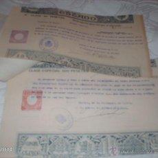 Documentos antiguos: LOTE DE 20 PAPELES TIMBRADOS DE PAGO AL ESTADO. SELLADOS EN MURCIA, 1942 Y 1929. Lote 42242465
