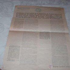 Documentos antiguos: DOCUMENTO PARA LA UNIÓN A LA FEDERACIÓN CÍRCULOS MERCANTILES. MADRID. 1932. Lote 42242594