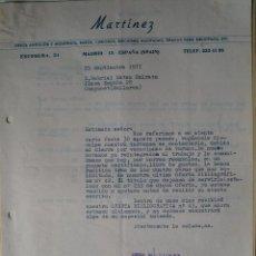 Documentos antiguos: 2 CARTAS ORIGINALES, LIBROS ANTIGUOS MARTINEZ, FIRMADAS POR EL DIRECTOR GERENTE, CON CUÑO, 1977 . Lote 42267865