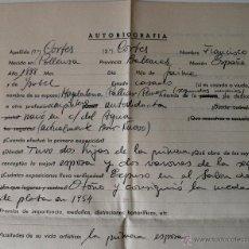 Documentos antiguos: BIOGRAFIA DATOS DEL PINTOR DE POLLENÇA, FRANCISCO CORTES CORTES . Lote 42282389