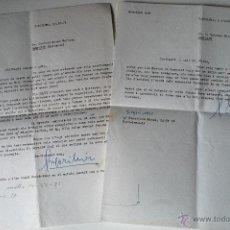 Documentos antiguos: 2 CARTAS A MAQUINA ESCRITAS Y FIRMADAS POR GREGORI MIR, BARCELONA OCTUBRE 1971 . Lote 42288542