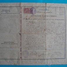 Documentos antiguos: CERTIFICACION ACADEMICA PERSONAL INSTITUTO DE VALENCIA AÑO 1899 A 1900. Lote 42288888
