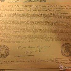 Old Documents - BULA PAPAL AÑOS 60 - TAL FOTOS - BUEN ESTADO - 42337084