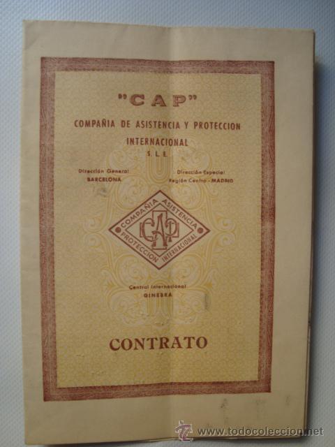 Documentos antiguos: CONTRATO PÓLIZA SEGUROS CAP. MOTO OSSA (BARCELONA, 1955). 38X26 CM. - Foto 2 - 42375592