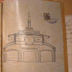 Documentos antiguos: PATENTE ANUNCIO RELOJ - TRANVIA - 1911. Lote 42412217
