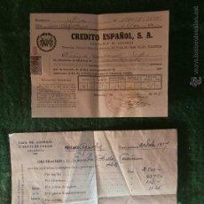 Documentos antiguos: XATIVA VALENCIA 1954 CUOTA CREDITO ESPAÑOL SEGUROS PRESTAMO CAJA AHORROS MONTE PIEDAD ALBAIDA. Lote 42507544