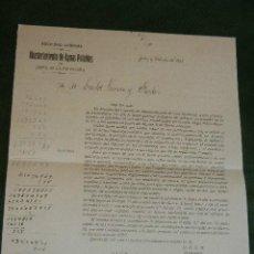 Documentos antiguos: CONVOCATORIA JUNTA ACCIONISTAS SOCIEDAD ABASTECIMIENTO AGUAS POTABLES DE JEREZ DE LA FRONTERA 1921. Lote 42653560