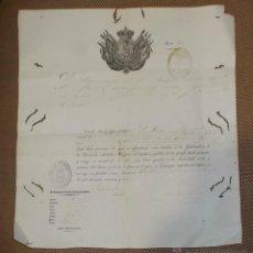 Documentos antiguos: PASAPORTE DE GETXO (VIZCAYA) A LA ISLA DE CUBA. 1853.. Lote 42703943