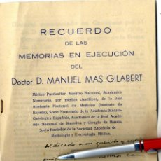 Documentos antiguos: CARTAGENA, FOLLETO DEDICADO DOCTOR D. MANUEL MÁS . Lote 42900939