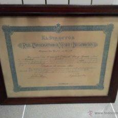 Documentos antiguos: ANTIGUO DIPLOMA CURSO 1928/1929 REAL CONSERVATORIO DE MUSICA Y DECLAMACION . Lote 42935125