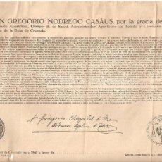 Documentos antiguos: BULA DE LA CRUZADA AÑO 1941 CLASE DEL SUMARIO 4ª.TAMAÑO FOLIO. Lote 43198604