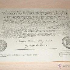 Documentos antiguos: ILDULTO DE LA LEY DE AYUNO Y ABSTINENCIA PARA 1960 PAGO DE BULA DE CRUZADA TOLEDO. Lote 43240634