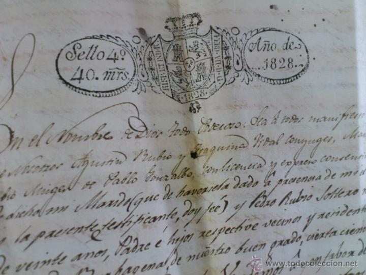 Documentos antiguos: BURBÀGUENA, TERUEL, AÑO 1828. COMPRA VENTA DE UNA CASA, DOCUMENTO 2 HOJAS - Foto 2 - 43397146