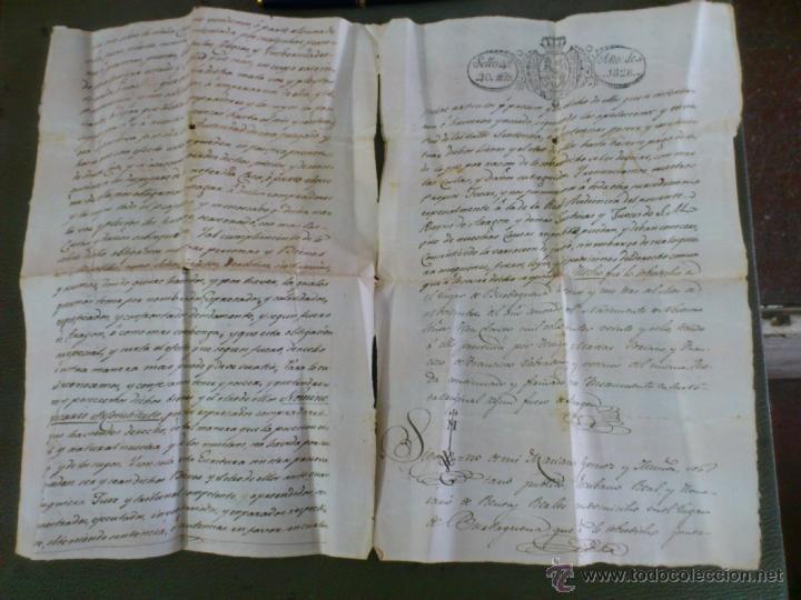 Documentos antiguos: BURBÀGUENA, TERUEL, AÑO 1828. COMPRA VENTA DE UNA CASA, DOCUMENTO 2 HOJAS - Foto 3 - 43397146