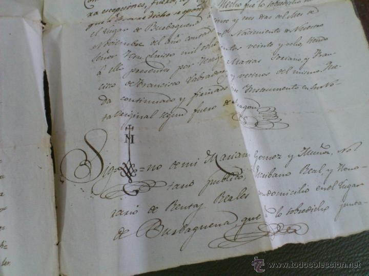 Documentos antiguos: BURBÀGUENA, TERUEL, AÑO 1828. COMPRA VENTA DE UNA CASA, DOCUMENTO 2 HOJAS - Foto 4 - 43397146