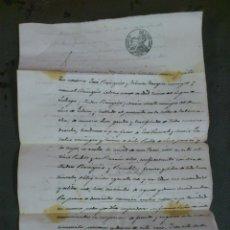 Documentos antiguos: ZONA DE CALAMOCHA, TERUEL, AÑO 1855. COMPRA VENTA DE UNA CASA, (O PARTE DE ELLA) DOCUMENTO 2 HOJAS. Lote 43397581
