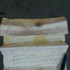 Documentos antiguos: BURBAGUENA, TERUEL, AÑO 1858. COMPRA VENTA DE UNA VIÑA, DOCUMENTO 2 HOJAS. Lote 43401249