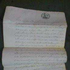 Documentos antiguos: ZONA DE CALAMOCHA, TERUEL, 1862. COMPRA VENTA DE PARTE DE UNA BODEGA Y UNA CUBA, DOCUMENTO 2 HOJAS. Lote 43401512
