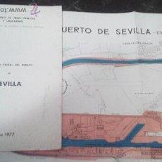 Documentos antiguos: MEMORIA ANUAL DEL PUERTO DE SEVILLA, AÑO 1977. Lote 43671008