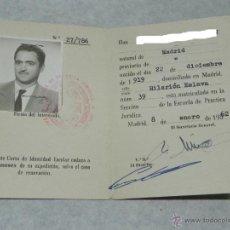 Documentos antiguos: CARNET ESCUELA DE PRACTICA JURIDICA, FACULTAD DE DERECHO, UNIVERSIDAD DE MADRID, CURSO 1961 - 62, . Lote 43765441