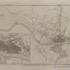 Documentos antiguos: ZARAGOZA. GUERRA INDEPENDENCIA. MILITAR. 1808. PLANO FRANCÉS.GRAN TAMAÑO.. Lote 43814799